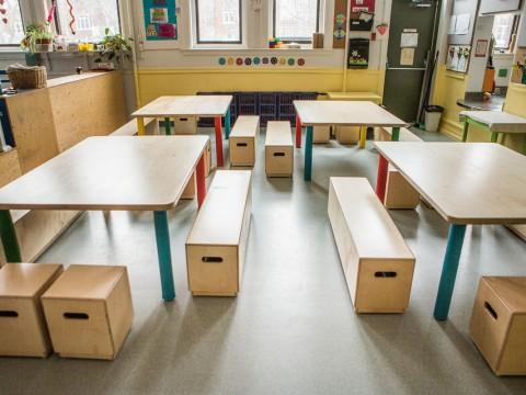 CPE tables et banc merisier russe