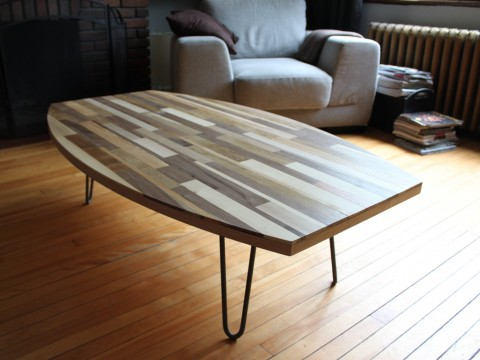 table basse bois recycle 1400