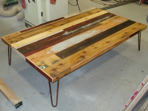 table bois recycle 1200